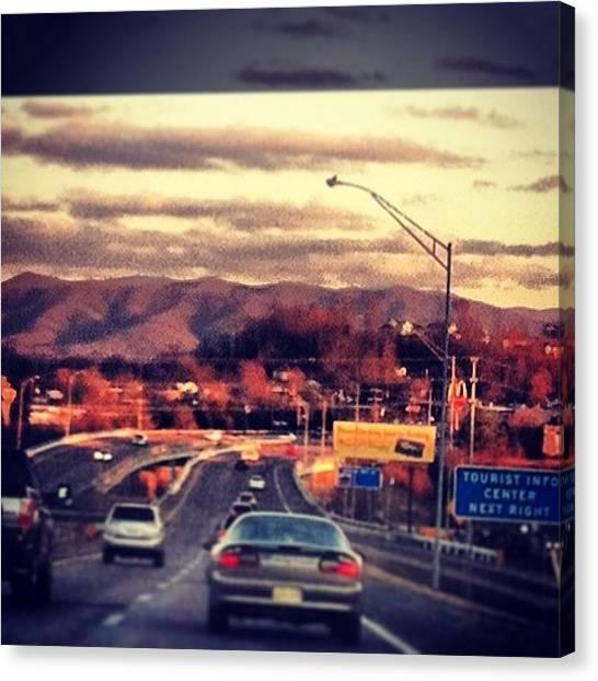Appalachian Mountains Canvas Print - #mountains #eveningcommute #getlost by Ria Davis