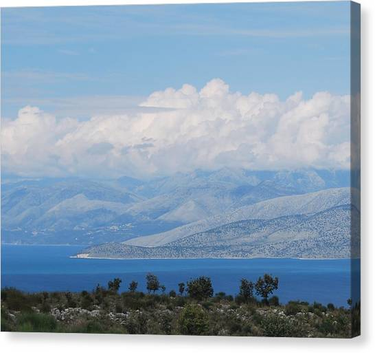 Mountains Far Away  3 Canvas Print