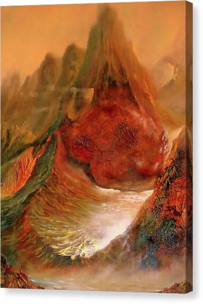 Mountains Fire Canvas Print