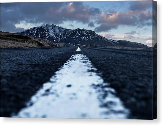Canvas Print featuring the photograph Mountains In Iceland by Pradeep Raja Prints