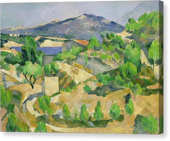 Rolling Hills Canvas Print - Mountains In Provence by Paul Cezanne