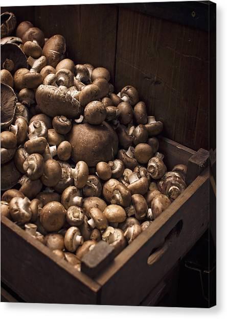 Portobello Mushroom Canvas Print - Mountains Of Mushrooms by Heather Applegate