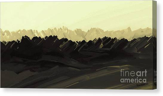 Mountains Of The Mohave Canvas Print