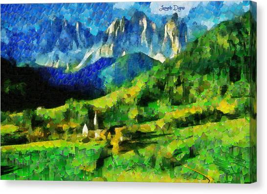 Landform Canvas Print - Mountains Paradise - Da by Leonardo Digenio