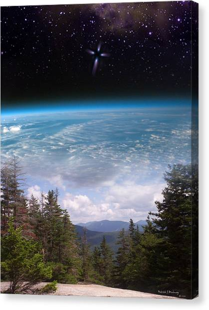 Mountaintop Space View Canvas Print by Patrick J Maloney