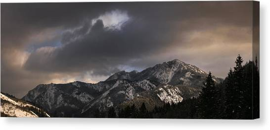 Mountian Light Canvas Print