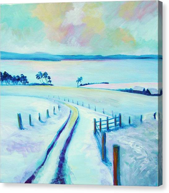 Mountpleasant Winter Canvas Print by Stephanie  Maclean