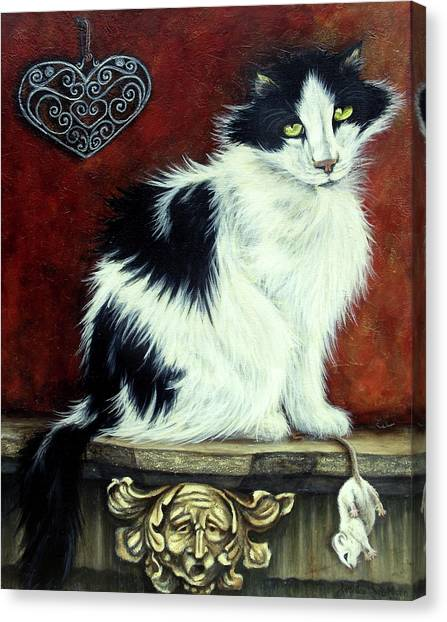 Main Coons Canvas Print - Mouser by Lorraine Davis Martin