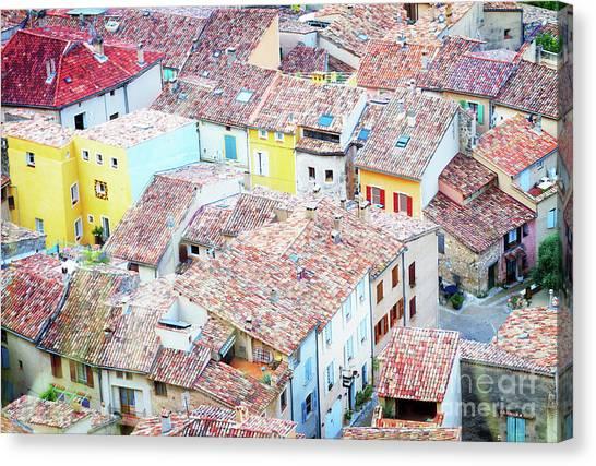 Moustiers Sainte Marie Roofs Canvas Print