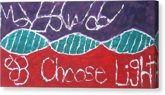 Move Forward Choose Light Canvas Print by AJ Brown