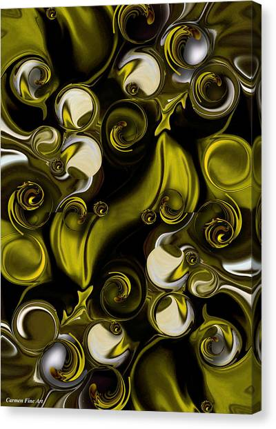 Canvas Print featuring the digital art Movement And Poetry by Carmen Fine Art