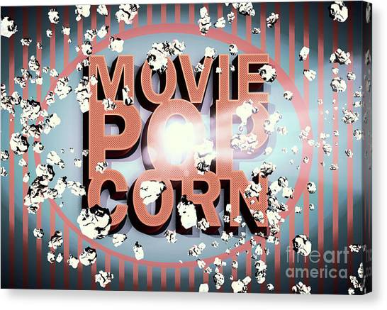 Media Canvas Print - Movie Pop Corn by Jorgo Photography - Wall Art Gallery