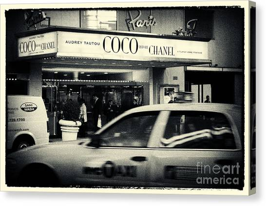 Movie Theatre Paris In New York City Canvas Print