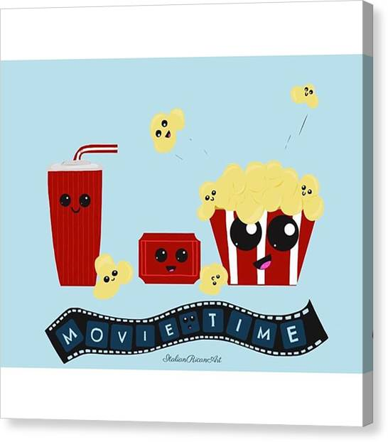 Popcorn Canvas Print - movie Time My Latest Creation! by ItalianRican Art
