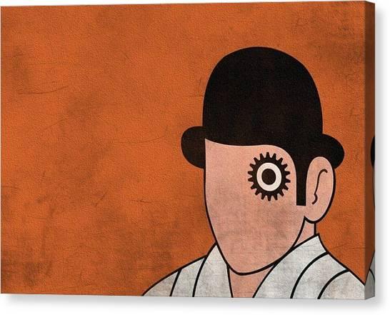 Clockwork Orange Canvas Print - Movies Clockwork Orange Stanley Kubrick Alex De Large 748x522 by Mery Moon