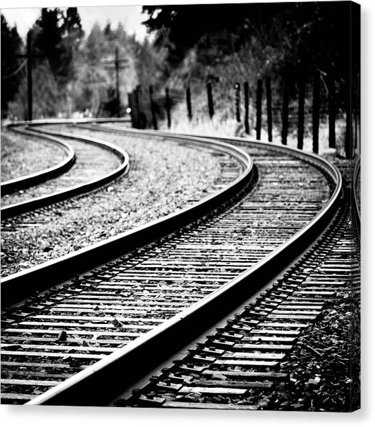 Trains Canvas Print - Moving On by Brian Bonham