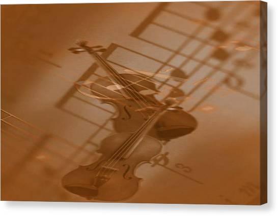 Mozart -little Night Music- Canvas Print by Norman Reutter