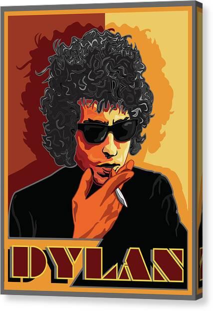 Mr Bob Dylan Canvas Print by Larry Butterworth