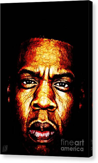 Jay Z Canvas Print - Mr Carter by The DigArtisT
