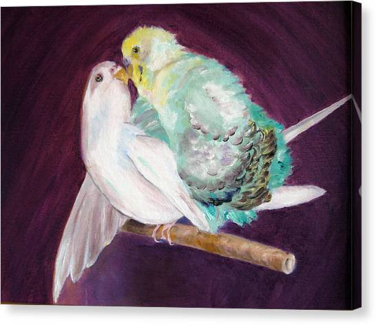 Mr Chan And Ms Powderpuff Canvas Print by Lisa Boyd