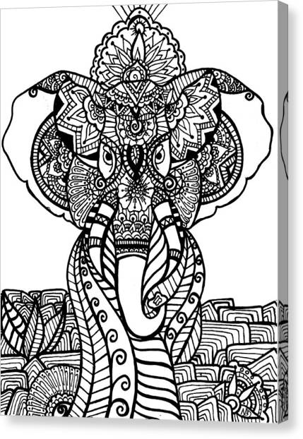Mr. Elephante Canvas Print