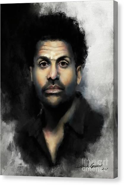 Canvas Print featuring the digital art Mr. Gadlin by Dwayne Glapion