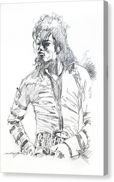 Michael Jackson Canvas Print - Mr. Jackson by David Lloyd Glover
