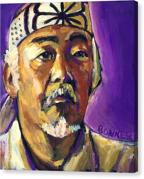 Karate Canvas Print - Mr Miyagi by Buffalo Bonker