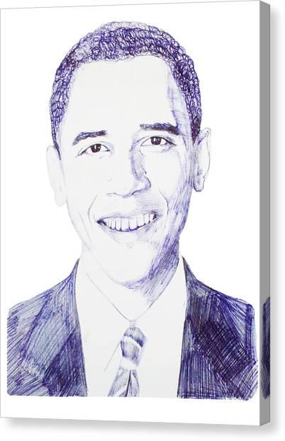 Mr. President Canvas Print by Benjamin McDaniel