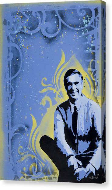 Roger Canvas Print - Mr. Rogers by Tai Taeoalii