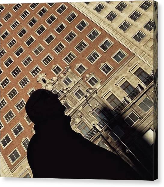 Shapes Canvas Print - Mr Shapeman  #man #shilouette by Rafa Rivas