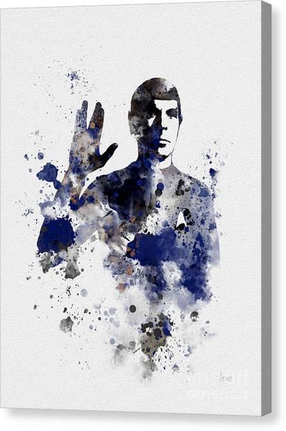 Star Trek Canvas Print - Mr Spock by Rebecca Jenkins
