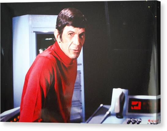 Tv Commercials Canvas Print - Mr. Spock by Roy Emmett