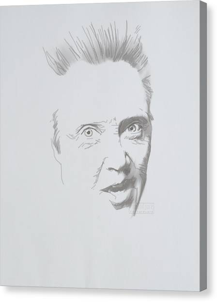 Canvas Print featuring the mixed media Mr. Walken by TortureLord Art