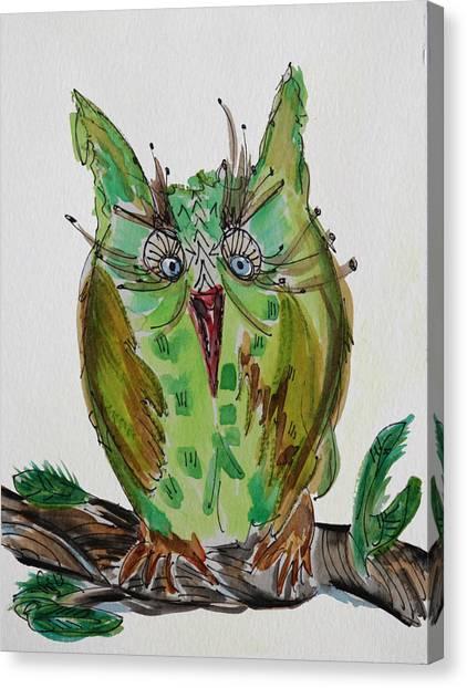 Mr.lime Owl Canvas Print