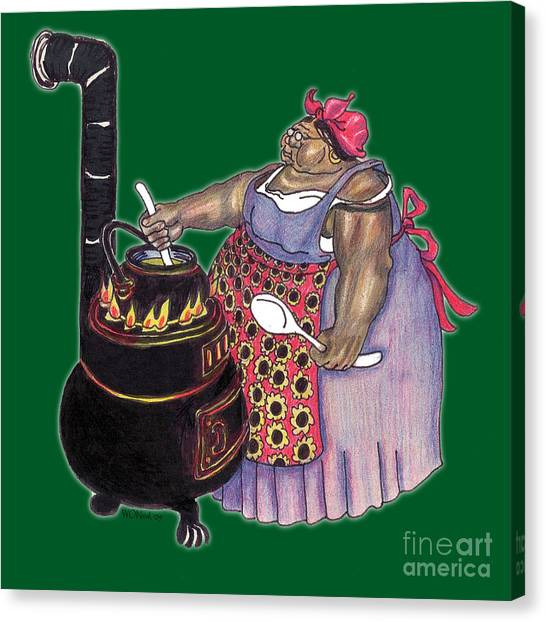 Mrs. Brown Preparing Supper Canvas Print