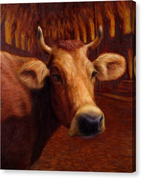 Chicago Fire Canvas Print - Mrs. O'leary's Cow by James W Johnson