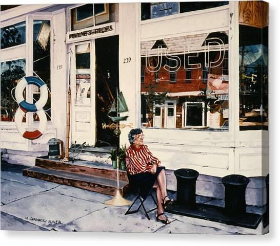 Junk Canvas Print - Mrs. Persteins by Marguerite Chadwick-Juner