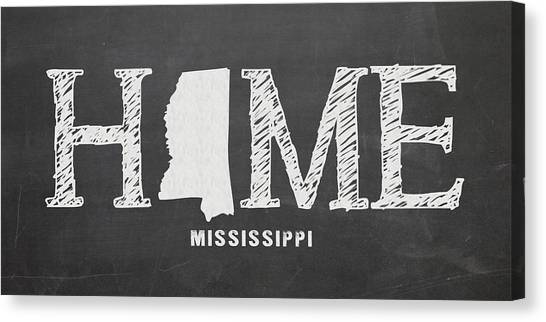 Mississippi State University Canvas Print - Ms Home by Nancy Ingersoll