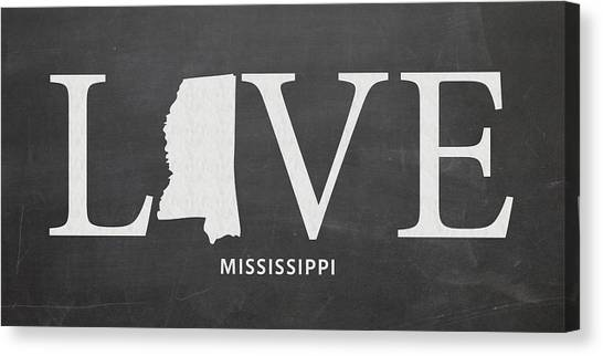 Mississippi State University Canvas Print - Ms Love by Nancy Ingersoll
