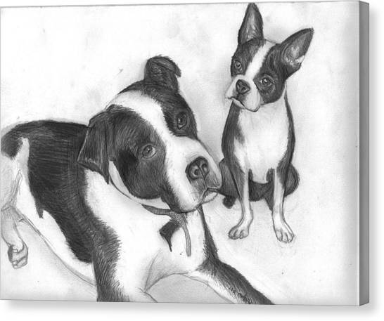 Ms Proutys Dogs Canvas Print by Katie Alfonsi