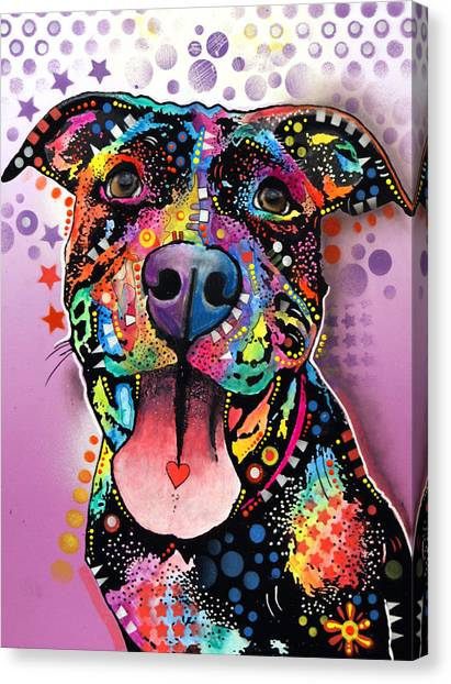 Pit Bull Canvas Print - Ms. Understood by Dean Russo Art