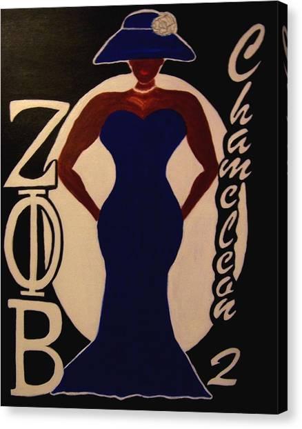 Zeta Phi Beta Canvas Print - Ms. Zeta by Audrey Thompson