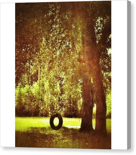 Swing Canvas Print - #msgulfcoast #swing #tree by Joan McCool