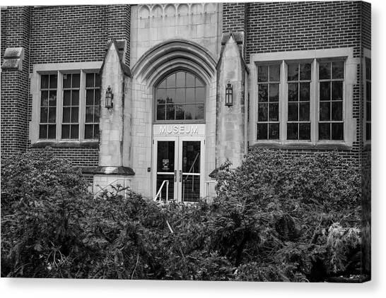 Michigan State University Canvas Print - Msu Museum Black And White  by John McGraw