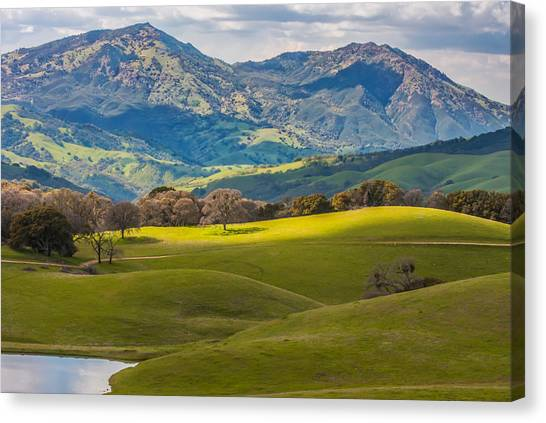 Contra Canvas Print - Mt. Diablo On A Spring Afternoon by Marc Crumpler