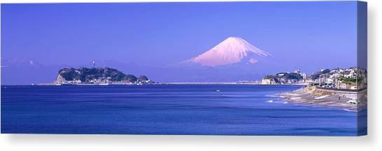 Mountainscape Canvas Print - Mt Fuji Kanagawa Japan by Panoramic Images