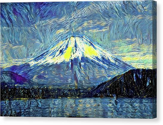 Mount Fuji Canvas Print - Mt. Fuji Modern Interior Art by ArtMarketJapan