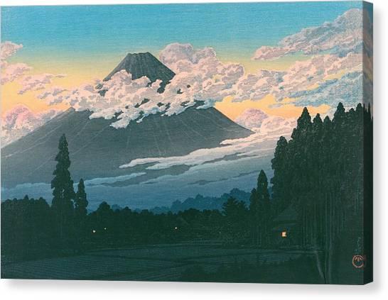 Mount Fuji Canvas Print - Mt. Fuji Susono - Top Quality Image Edition by Kawase Hasui