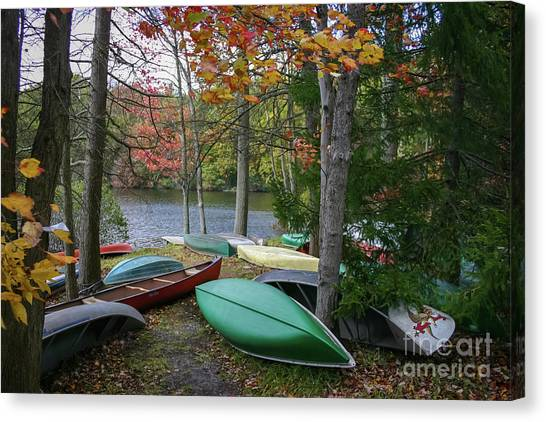 Mt. Gretna Canoes Canvas Print